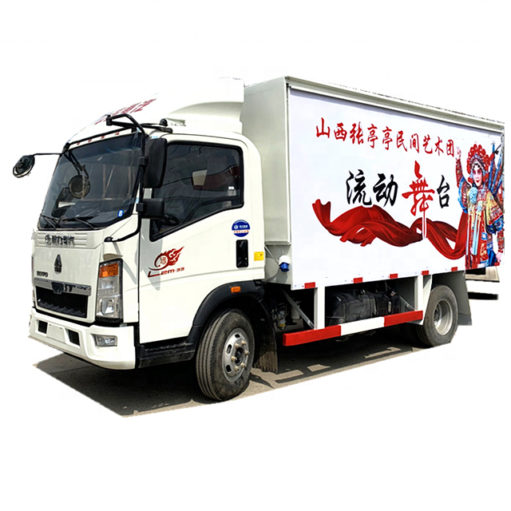 Sinotruk howo mobile small stage truck