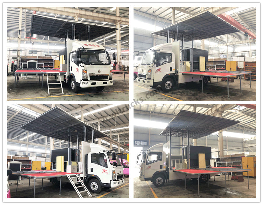 Sinotruk howo mobile small stage truck for roadshow