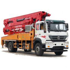 Sinotruk steyr 35m concrete pumping truck