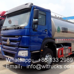 Sinotruk Howo 8m3 to 15m3 Stainless Steel Milk Transportation truck