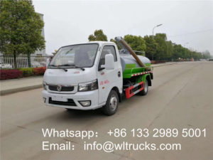 Toilet suction truck