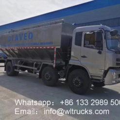 cattle feed transport truck