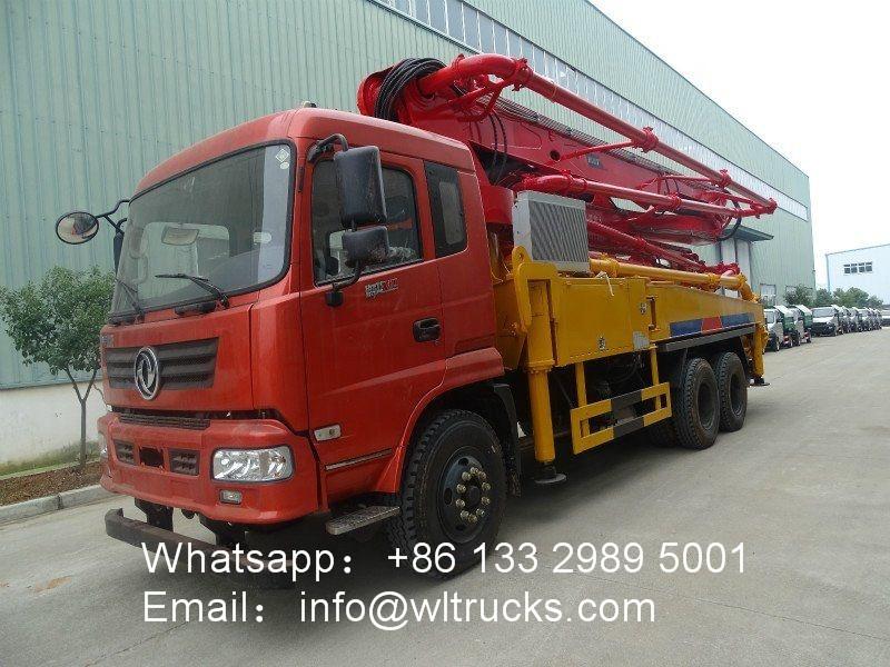 6x4 Dongfeng 35m cement pump machine truck