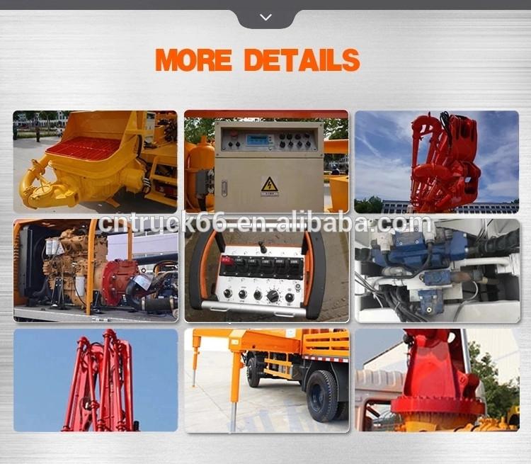 cementpump truck detailed picture