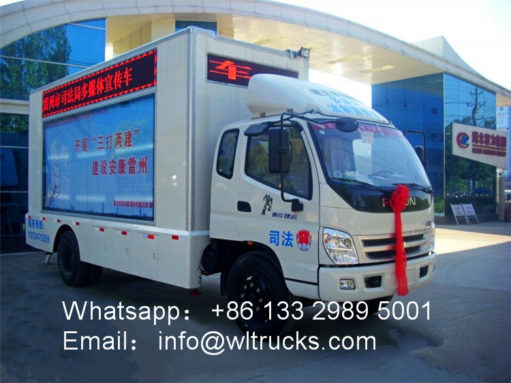 led advertising truck