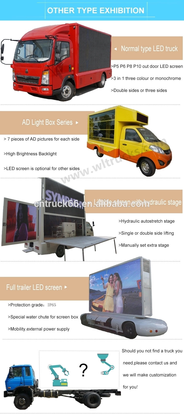 led billboard truck Optional Type