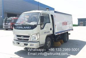 mini diesel sweeper truck