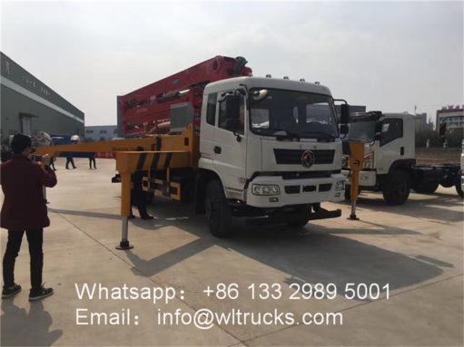 mobile concrete pump truck