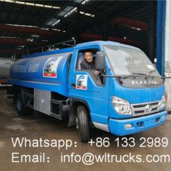 small milk tanker truck