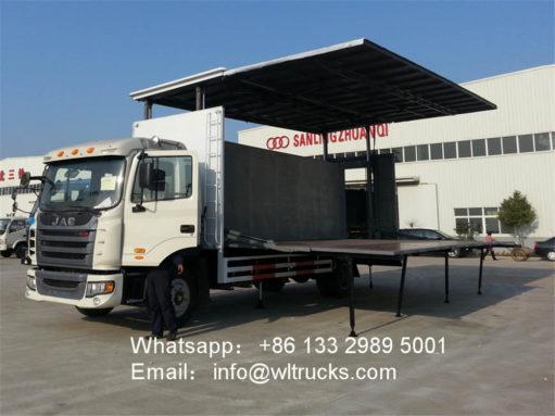 stage truck trailer