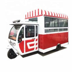 stainless steel outdoor electric ice cream food cart
