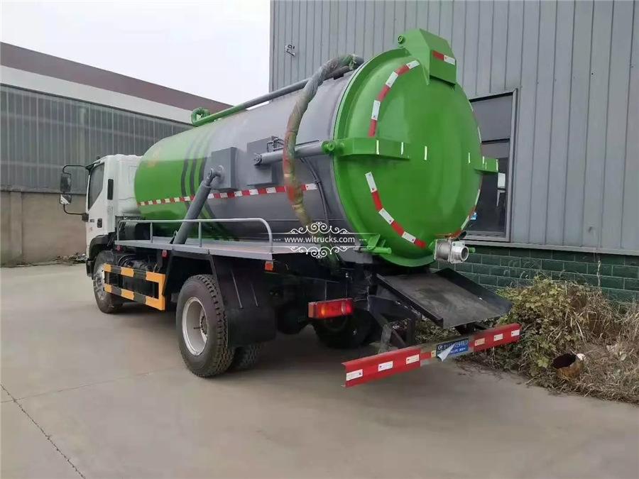 10 mt vacuum sewage suction truck