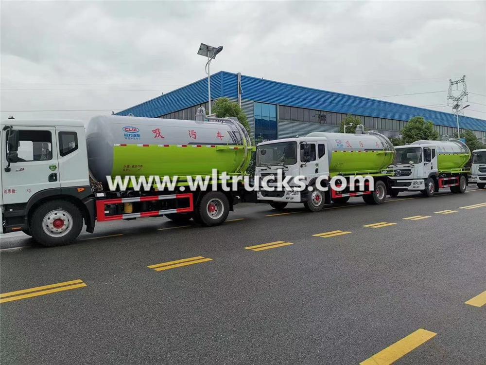 10 ton to 15 ton sewage suction trucks