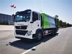 10 wheel HOWO 18 ton rubbish compactor truck