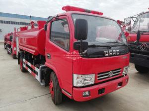 3000 liters fire water tank truck