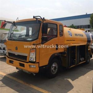 4x2 Howo 6 ton Lpg Gas Bobtail Tanker Truck