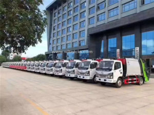 5 cbm garbage compactor trucks ordered by Mongolia