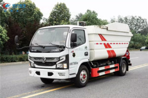 5 ton Rear loading compactor garbage truck
