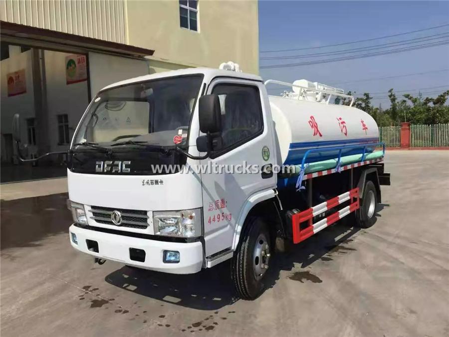 5cbm mini septic tank suction truck
