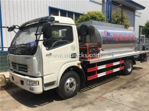 6 ton Intelligent Emulsion Heated Bitumen Sprayer Truck