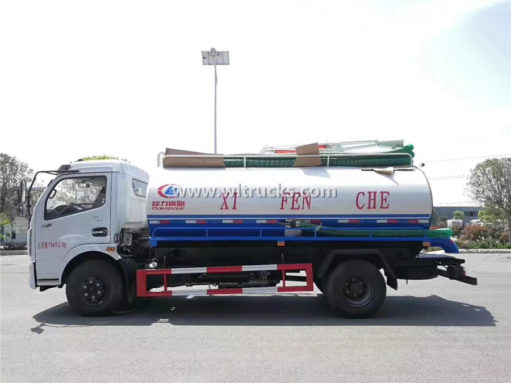 8000liters vacuum fecal truck
