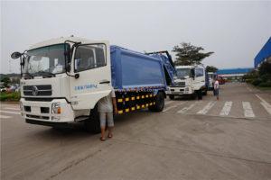 Dongfeng kinrun 12cbm swing arm compactor garbage truck
