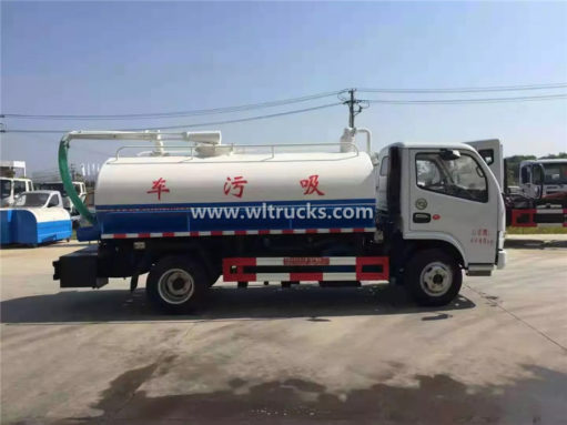 Dongfeng mini septic tank suction truck