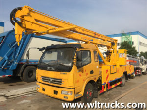 Dongfeng row half 18m aerial platform working truck