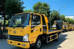 FAW 3 ton falt Wrecker truck