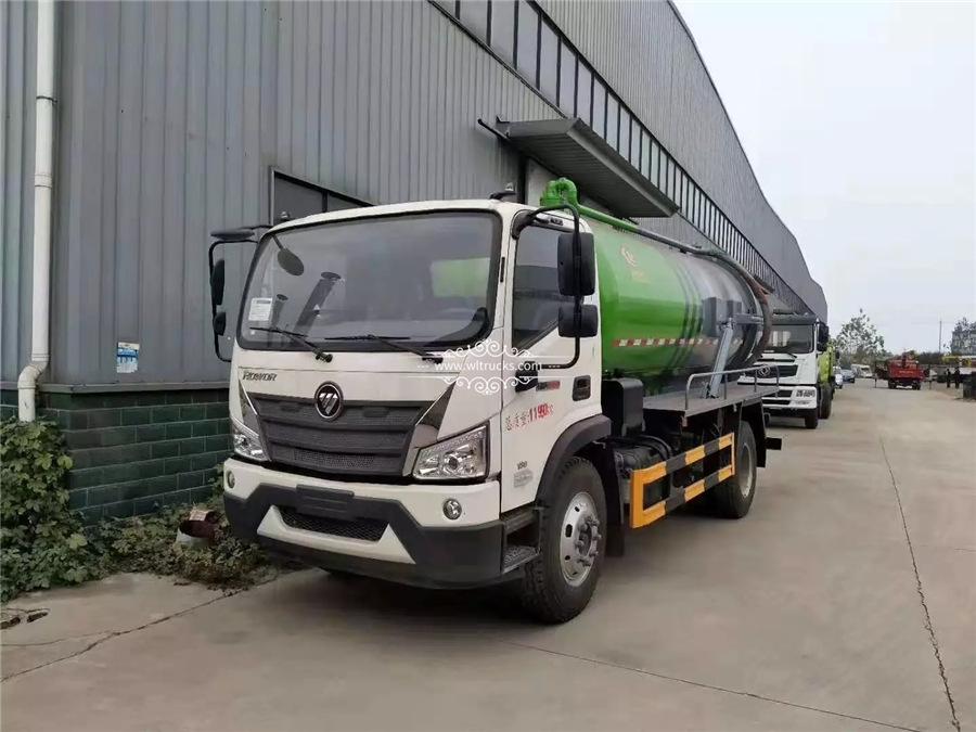 Foton 10 ton sewage suction truck