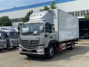 Foton Ouhang 6.6 meters 15 ton Meat hook freezing truck