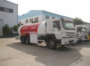 HOWO 10 Metric Tonne LPG Gas Refilling truck
