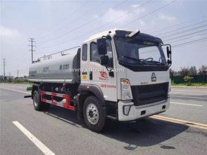 HOWO 15cbm water bowser truck