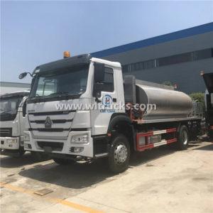 Howo 12cbm Stainless Steel Bitumen Tank Truck