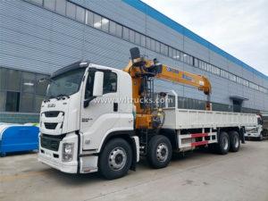 ISUZU 16 Ton Mobile Hydraulic Straight Boom Arm Crane Truck