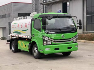 Natural gas 8000liters water tank truck