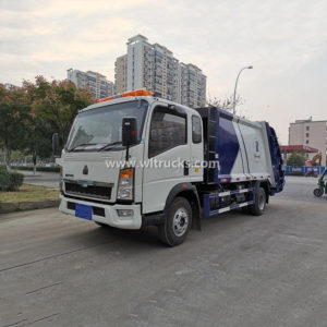 RHD HOWO 8cbm waste collection garbage compactor truck