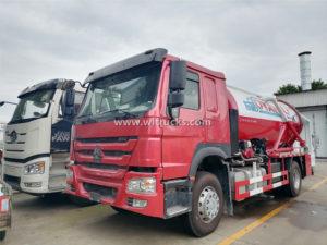 Sinotruk HOWO 10000 Liters Vacuum Sewage Suction Tanker Truck