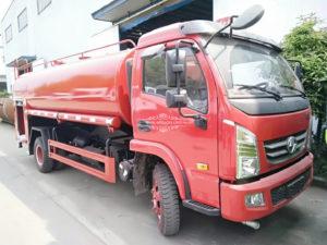 Yuejin 6000 liters fire water tank truck