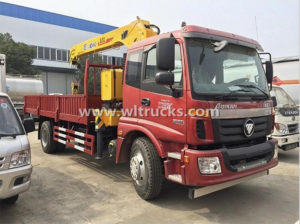 10 ton Hydraulic telescopic boom truck mounted crane