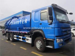 10 wheels HOWO 18000L Sewage Suction Truck