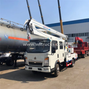 12m to 16m Howo Double cabin High Altitude Operation Truck