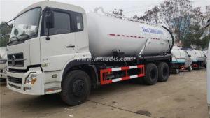 18000 liters Waste water Vacuum Tank truck