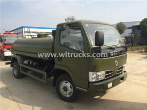 4WD DFAC 5000L stainless steel Water Carting Truck