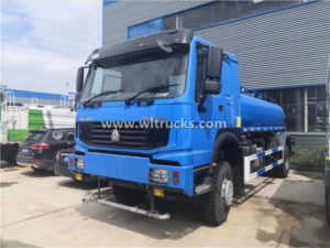 4X4 HOWO 15 ton Water Bowser Truck