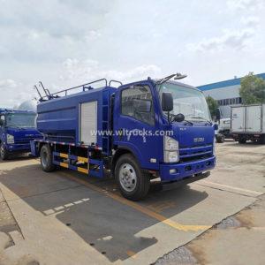 6 wheels Isuzu 10cbm High Pressure Jetting Sewer Fecal Sewage Flushing and Suction Truck