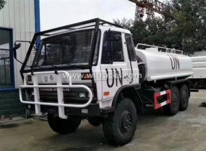 6WD off Road 15cbm Fuel Oil Tanker Truck