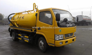 China Dongfeng 5000L Carbon Steel Tank Vacuum Sewage Truck