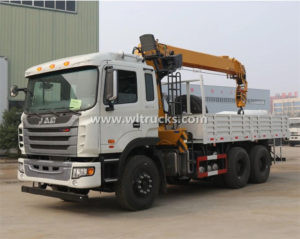 China JAC Straight arm 10 Ton Cargo Truck Crane