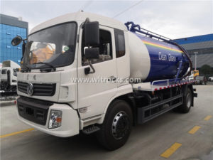 Dongfeng brand 12m3 sewer vacuum sewage suction truck exported to Ghana